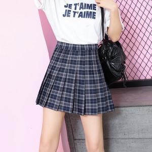 2020 nuovi vestiti delle donne scozzese a pieghe kawaii Harajuku pannello esterno della donna mini gonne delle donne jupe Plissee femme abbigliamento moda coreana