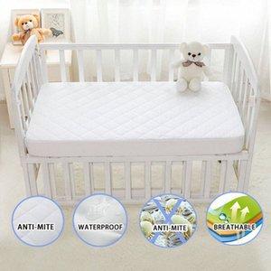 Fırçalı Kumaş Kapitone Yatak Koruyucu Kapak Anti-mite Nefes yatak örtüsü Su geçirmez Baby 28 için * 52 * 6 inç / 71 * 132 * 15cm yzaF #