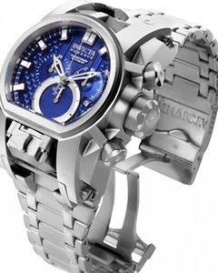 Swiss Quartz In-victa Reserve Bolt Zeus Men Model Men's Watch 52mm Dual Time Zone Stainless Steel