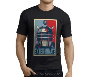 New Popular DOCTOR WHO EXTERMINATE Dalek Black T-Shirt Size S-3XL Men And Woman Free Shipping