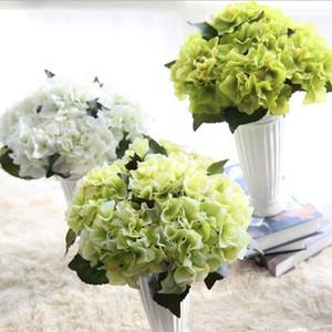 t Yapay Ortanca Çiçek Tek Düğün Ortanca Simülasyon Çiçek İpek Çiçek Kemerler Noel Ev decoraton GB1275