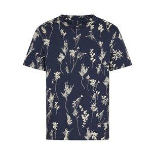 Impreso de vacaciones completo 20SS Hombres Mujeres camiseta de alta Calle de gama alta de moda de verano al aire libre Viajes camiseta de manga corta transpirable HFYMTX919