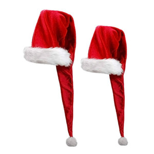 OOTDTY Christmas Santa Claus Hat Super Long Novelty Xmas Ornaments Holiday Party Decoration for Children and Adults