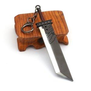 아머 브레이크 열쇠 고리 금속 게임 llaveros의 클라우드 투쟁 버스터 소드 키 체인 남자 파이널 판타지 7 리메이크 잭 페어 무기 검