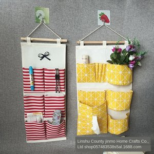 behind door wall hanging type dormitory artifact wall hanging storage bag ins fabric storage bag simple