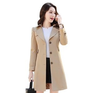 Women's Trench Coats Spring Autumn Coat Slim Single Breasted Woman Long Women Windbreakers Plus Size Overcoat Femmino
