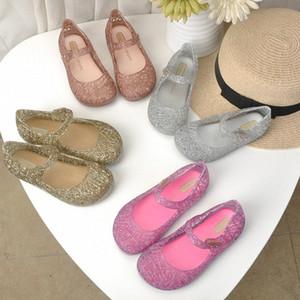 Mini Melissa Hollow Girl Jelly Shoes Beach Sandals 2020 Летняя детская обувь Melissa Sandals Kids Non Slip Princess Girls HN9T #