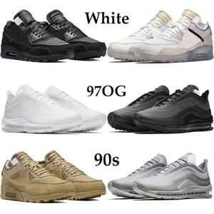 2020 New White x90s 97OG Homens Mulheres Running Shoes preto Desert Ore menta elemental subiu esporte clássico Sneakers exterior Trainers 36-45