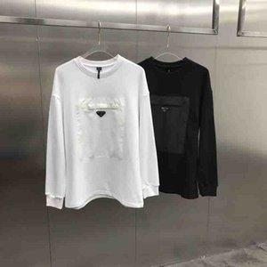 2020 영국 패션 최신 스타일의 봄 여름 큰 가슴 포켓 스웨터 후드 캐주얼 통기성면 상단 파리 티 망
