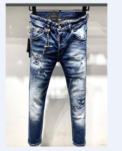 NEW Compare with similar Items TOP New Arrival Top Quality Men Denim Jeans Embroidery Pants Fashion Holes Trousers Italy Size 44-54