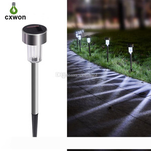 LED Outdoor Lighting Landscape IP65 Waterproof Stainless Solar Lawn Light Auto Changing Color Portable Solar Garden Lamp