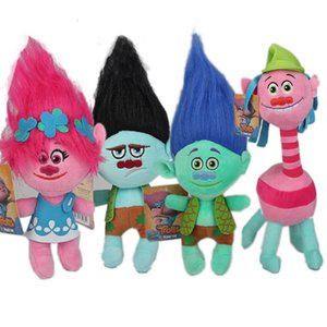 2017 Filme Trolls boneca de pelúcia Toy 9-12inches Poppy filial DreamWorks Stuffed desenhos animados Dolls The Good Luck Trolls EMS C934
