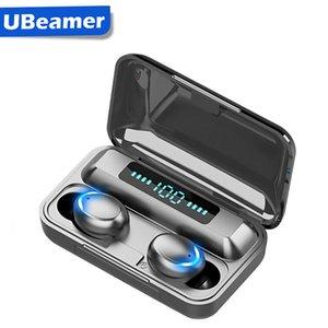 Ubeamer لاسلكية سماعات التحكم باللمس، شاشة LED، الضوضاء إلغاء سماعة، مقاوم للماء، وأفضل بلوتوث F9 الإنسان سماعات الأذن مع هيئة التصنيع العسكري