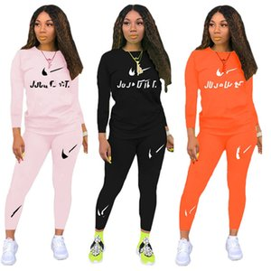 Plus size fall winter women brand jogger suit tracksuits designer outfits long sleeve hoodies top+pants two piece set casual sweatsuits 3493