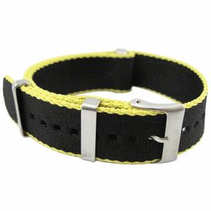 Qualité Hight Noir Nato Nylon imperméable Hommes Bracelet 20 mm 22mm Casual Bond 007 Bracelet 30cm Army Montre Sport Band EHIL #