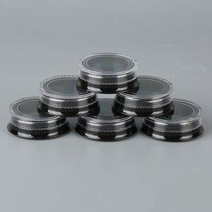 Новый 3G Круглых черный Cosmetic баночка с Clear Screw Cap Крышкой для Сухого Eyeshadow Минерализованных Макияж Косметического Samples BPA Free