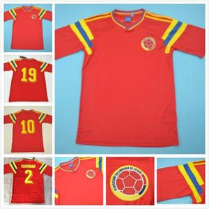 # 10 # 9 Valderrama Guerrero Colombia 1990 Maglia Retro calcio classico rosso commemorare antica collezione Vintage maglia da calcio Camiseta