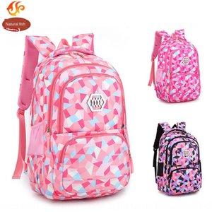 Natural Fish Girl backpack primary school student schoolbag Grade 3-4-6 children schoolbag Ridge-protecting backpack