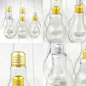 Beverage Bottle прозрачный пластиковый массажер питьевой чашки Лампочка Рисунок Кружка Фруктовый сок Молочный чай Магазин ахроматический цвет Clear 2 6cy C2