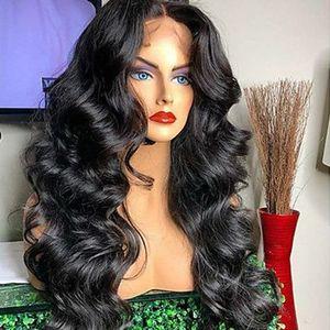2020 HD прозрачные кружева фронт человеческих волос парики волос полный кружевной парик предварительно сорванный бразильский корпус волна 360 кружевной фронтальный парик с ребенком Remy