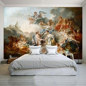 3D Custom Mural Wallpaper European Retro Angel Character For LivingRoom Bedroom Wallpaper Decoration For Room Mural Modern