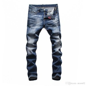 19 Seasons New Jeans Hole Motorcycle Hip-Hop Style Tight Jeans Leisure Pants Brand Zipper Designer Hot Selling Men's Wear Designer Jean