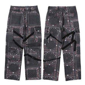 Januarysnow Hip Hip Jeanshosen Streetweinlese-Muster aus gewaschenem Denim-Hosen Harajuku Cargo Pants Jogger Hose Cotton