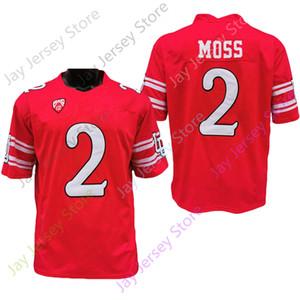 2020 Nuevo tamaño de la NCAA Utah Utes jerseys 2 Zack musgo balompié Jersey Red de Jóvenes Adultos Todo cosido bordado envío de la gota