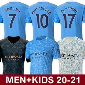 2020 2021 Manchester City Futbol Forması 20 21 top thailand quality Manchester City soccer jersey KUN AGÜERO STERLING DE BRUYNE MAHREZ İSA SİLVA