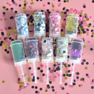 Paper Pushing Confetti Wedding Party Decoration Paper Push Tube Sharking Paper Decoration DIY Push-Pop Supplies