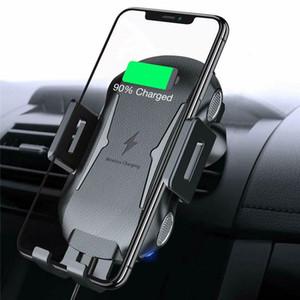 drahtlose Ladegerät X318 Qi voll automatische Spannmontage wirelss Schnellladegerät Auto Entlüfter Telefonhalter mit Kleinpaket