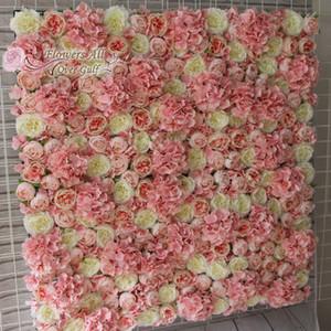 fiori tutto su Golfo di nozze 2017new decorazione artificiale rosa e nuovo muro di fiori di ortensia di sfondo 10 pc / lotto