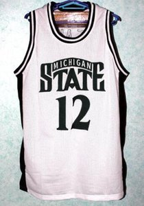 Custom Men Youth women Vintage MATEEN CLEAVES #12 MICHIGAN STATE Basketball Jersey Size S-4XL or custom any name or number jersey