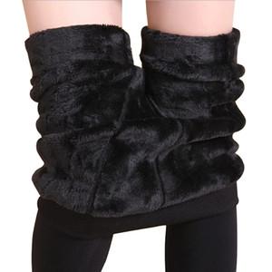Yeni Moda Kadın Sonbahar Polyester Kış Yüksek Elastikiyet Ve Kaliteli Pantolon Kalın Kadife Pantolon Yeni Sıcak Tozluklar Rooftrellen