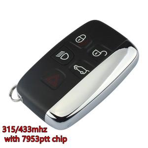 7953ptt ile Landrover anahtarsız akıllı anahtar 4 + 1 düğmesi 315MHZ