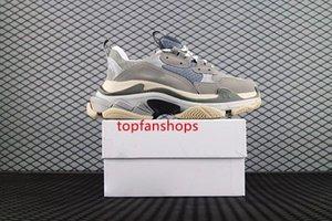 2019 Paris Triple S Clear bottom Designer Shoes Luxury Low Top Sneakers Triple S Men s and Women Daddy platform Sports Trainers 36-45 L26