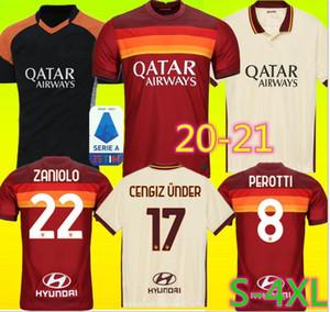 2020 AS ZANIOLO 칼리 니치 ROMA 축구 유니폼 (20) (21) 페예 그리니 MANOLAS 로마 축구 셔츠 세트 2021 제코 클루이베르트 남자 아이 키트 유니폼