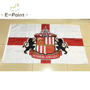 Angleterre Sunderland Association FC 3 * 5 pi (90cm * 150cm) Polyester EPL drapeau décoration bannière de vol jardin maison drapeau cadeaux de fête