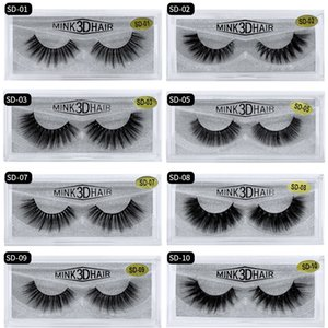 HOT Wholesale 3D mink false eyelash soft long eyelash multi layer thick false eyelash free shipping