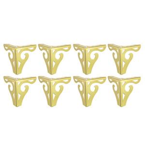 Gambe 8pcs moderna metallo Divano Cabinet piedi gabinetto per ripiani Tavolo armadio