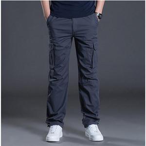 İlkbahar Sonbahar Erkek Kargo Pantolon Rahat Erkek Pantolon Baggy Düzenli Pamuk Pantolon Erkek Savaş Taktik Pantolon Çok Cepler