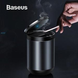 Baseus светодиодной Пепельница высоких Огнезащитного Авто пепельница Огнеупорного материал Easy Clean Fit Большинство подстаканник 0UHT #