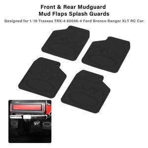 4pcs Front & Rear Mudguard Mud Flaps Splash Guards Set for 1 10 Traxxas TRX-4 82046-4 Ford Bronco Ranger XLT RC Car