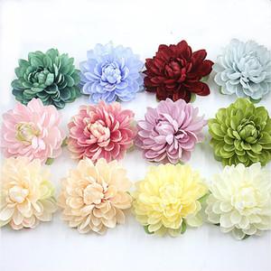 11CM Big Artificial Silk Corsage mantilha Dahlia Crisântemo Flores Handmade DIY Home Decor Cabeça Roupas e Acessórios Flor