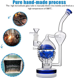 TORO Glass Bongs Unique Feb Egg Heady Glass Water Pipes Hookahs Dab Oil Rigs Smoking Accessories Arm Tree Perc 14MM Glass Bowl 10.3Inch