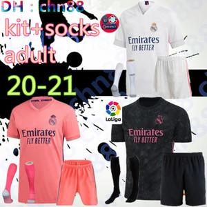 20 21 Real Madrid Asensio # 20 del pullover di calcio del corredo adulto + calzini 2020 2021 BALE # 11 ASENSIO N ° 20 MODRIC RISCHIO N ° 7 BALE ISCO maglie da calcio