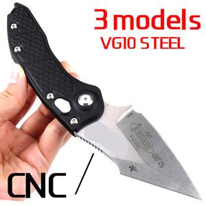 Wholesale Nouveau CNC VG10 Steel T6061 Poignée Couteau Benchmade UTX85 UT121 BM3300 BM3500 Camping Automatique Couteau EDC Outil de chasse Couteaux de poche