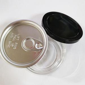 케이스 100ml의 Presstin 알루미늄 깡통 뚜껑 쉬운 오픈 엔드 리프트 링 OEM 빈 캔 포장 3.5G 캔 투명 PET 플라스틱 캔 식품 학년 꽃