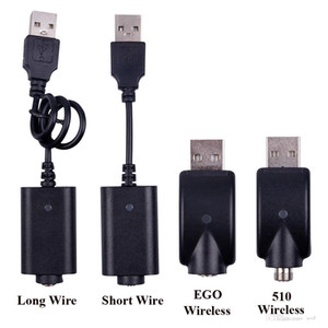 Wholesale Ego USB Charger Electronic Cigarette Wireless Chargers Cable For 510 Ego T C EVOD Twist vision spinner 2 3 mini battery
