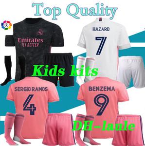 2020 21 kids Real Madrid soccer jersey HAZARD KIDS kits with socks 20 21 real Madrid Football shirt Asensio MODRIC ISCO child Soccer Sets